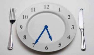 teratur dalam menjalankan waktu makan