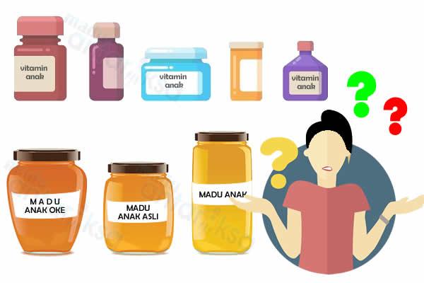 bingung memilih vitamin dan madu anak